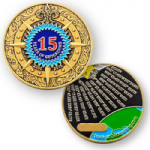 15 Years Of Geocaching Geocoin (Coins and Pins Version)